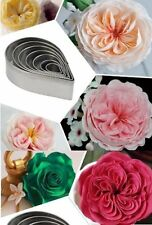 Rose Flower Petal 7 pc Metal Cookie Cutter Set - NEW