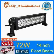 14inch 72W Led Work Light Bar Flood /Spot Suv Boat Driving Lamp Offroad 4WD 12''
