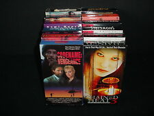 Lot of 12 Adult Suspense Passion Video Tape VHS Movies Videos with Boxes
