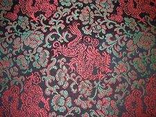 "~30 YDS~""DRAGONS ASIAN ORIENTAL""~EMBROIDERED ELEGANT UPHOLSTERY FABRIC FOR LESS~"