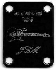 GUITAR NECK PLATE Custom Engraved Etched - Ibanez Jem - STEVE VAI - BLACK