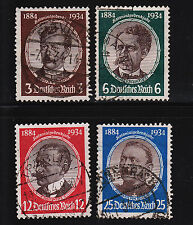 1934 Germany Lost Colonies Set Sc#432-435 Used Sound 13269