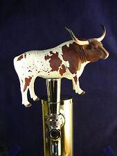 Custom Made LONGHORN STEER BAR BEER TAP HANDLE Kegerator Unique! Figural! WOW!!