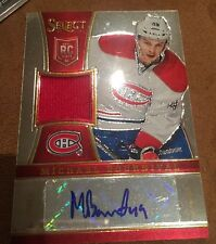 13/14 Rookie Anthology Michael Bournival Select Auto Jersey Rookie #48/199 Wow !