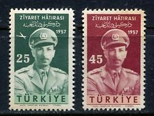 30896) TURKEY 1957 MNH** King Zahir Shah 2v.