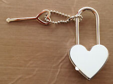 PORTE CLÉ CADENAS COEUR PERSONNALISABLE PHOTO Saint Valentin