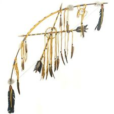 Dream Catcher Chief Style Buckskin Beaded Bow and Arrows