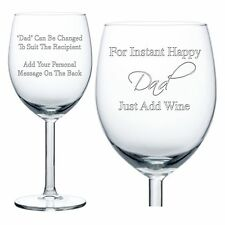 Personalised Wine Glass Engraved Birthday Gifts Daddy Grandad Dad Mum Nanny Gran
