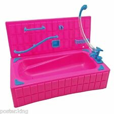 Pink Bathroom Bathtub Set 1/6 Barbie's Kelly Doll's House Dollhouse Furniture
