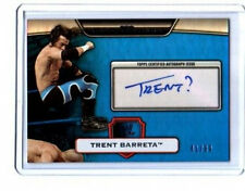 WWE Trent Barreta Platinum 2010 Blue Autograph Card