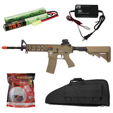 G&G Raider Long Tan M4 M16 Airsoft Electric AEG Rifle Gun Charger Battery Bag