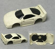 TYCO Ferrari F-40 HO Slot Car BODY Gloss WHITE Plastic Test Shot NO TRIM PAINT