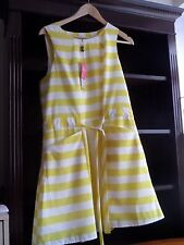 BNWT summer/ party/cruise Next white and yellow dress  size 16