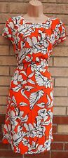 PAPAYA WHITE FLORAL ORANGE A LINE SMOCK BAGGY SUMMER TUNIC A LINE DRESS 16 XL