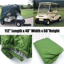 4 Passenger Golf Cart Cover Club Fit Yamaha EZGO Buggy Storage & Zipper
