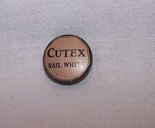VINTAGE CUTEX NAIL WHITE TIN-MANICURE- NORTHAM WARREN-NEW YORK-MINIATURE-SAMPLE