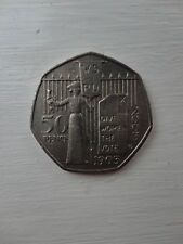 50 pence p coin 2003 Give Women the vote Wspu suffragettes