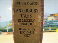 """Geoffrey Chaucer """"Canterbury Tales"""" Illustrated By Rockwell Kent -1934 Fair Cond"""
