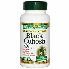 BLACK COHOSH 90x40MG. FOR HOT FLUSHES, NIGHT SWEATS,VAGINAL DRYNESS, MENOPAUSE