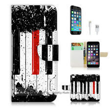 iPhone 7 (4.7') Flip Wallet Case Cover P0297 Piano