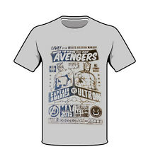 Marvel Avengers Captain America vs Ultron T-shirt Heather Grey Large New Collect