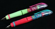 2 x Papermate Back to School Comfort Grip Fountain Pens Kiss Green & Pink
