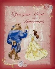 "Beauty and The Beast Waltz Cotton Fabric Panel. Craft Quilting. 36x44"" wide"