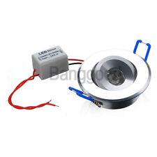 FARETTO INCASSO LAMPADA 1 LED 3W A MOLLA CON ALETTE DRIVER LUCE CALDA 300LM 220V