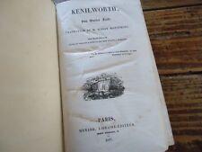 OEUVRES DE WALTER SCOTT - 1837 - KENILWORTH
