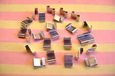 Efecto invernadero Clips 25 Z De Aluminio Pulido solapamiento Vidrios Clips