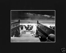 D-Day Allied World War 2 Invasion of Normandy Black Large Matted Photo Picture