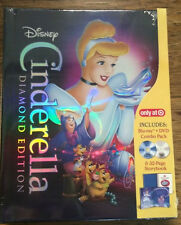 Walt Disney CINDERELLA Diamond Edition 2 Disc BLU-RAY DVD NEW SEALED Storybook