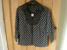 bnwt debenhams all cotton blouse  shirt size 12 embroidered black