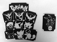GLITTERTATTOO 11 different POKEMON stencils cool glitter tattoo must have L@@K!