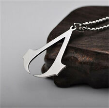Silver Fashion Stainless Steel Assassin's Man's Double knife Pendant Necklace