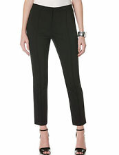 Rafaella Zip Ankle Twill Pant, Solid Black, Missy Size 14. Slim Fit High Waisted