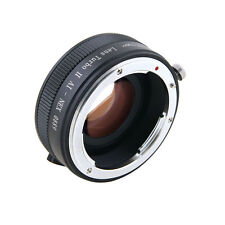Zhongyi Turbo II Focal Reducer Booster Adapter for Nikon F AI to Sony E NEX 7 6