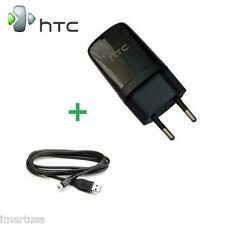 Europe EU HTC Travel Wall Power Charger Adapter + Micro USB Data Sync Cable Cord