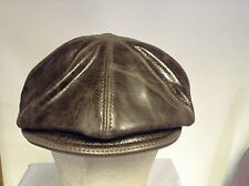 Jill Corbett Leather 8 piece cap choc brown leather Handmade in UK to order