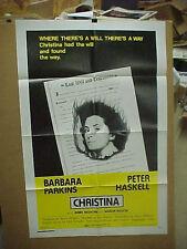 CHRISTINA, nr mint orig 1-sht / movie poster [Barbara Parkins, Peter Haskells]