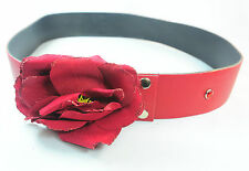 "THE ""BLEEDING PASSION"" RED WAIST BELT FOR WOMEN STATEMENT PIECE (UW1)"
