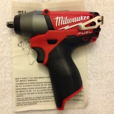 "New Milwaukee Fuel M12 2454-20 12V Li-ion 3/8"" Brushless Impact Wrench"
