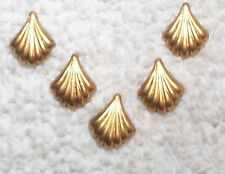 VINTAGE PETITE ART DECO BRASS STAMPINGS FINDINGS 14 PIECES  TINY