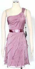 Adrianna Papell Dusty Rose Cocktail Dress Size 4 Chiffon Tiered Women' New*