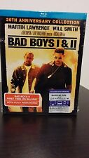 Bad Boys 1 & 2 (Blu-ray  2-Pack, 2015, 2-Disc Set )Includes HD UV -Free Shipping