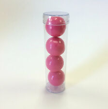 FDA CLEAR PLASTIC 4 INCH ROUND GUMBALL OR CANDY FAVOR TUBES - QTY 50