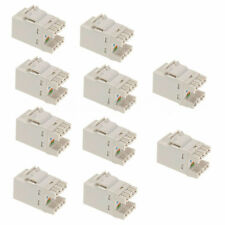 10pcs Cat 6 RJ45 Punchdown Keystone Modular Ethernet Snap-in Jack Network