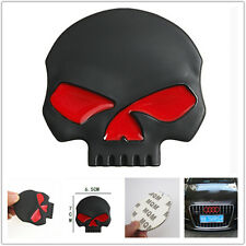 3D Black Metal skull Logo Emblem Sticker Car SUV Body Exterior Tank Cover Fender