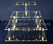 Cake Pop or Cupcake Acrylic Display Stand Square 52 holes