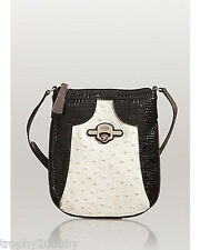 NEW GUESS NIXA COLORBLOCK ZIPPER TOP CROSS-BODY BAG PURSE